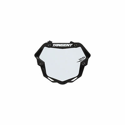 Tangent Ventril 3D Large Number Plate Black with White Insert