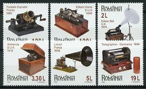 Romania-Inventions-Stamps-2020-MNH-Romanian-Collections-Phonographs-6v-Set