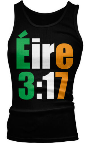 Eire 3:17 Irish Flag Colors Gaelic Country Ireland Heritage IRL Girls Tank Top