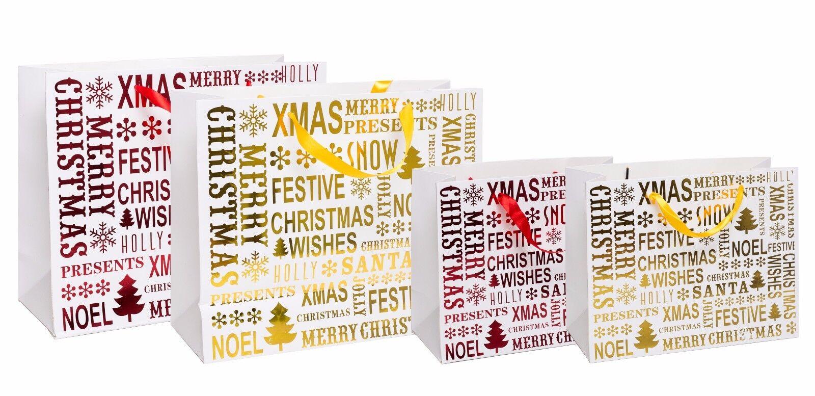 Luxury Luxury Luxury Christmas Carta Pacco Regalo Assortiti Babbo Natale Vacanza con 74608d