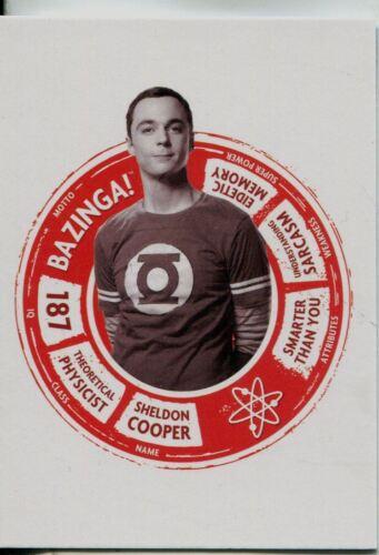 Big Bang Theory Seasons 6 /& 7 Portraits Chase Card CP2 Sheldon Cooper