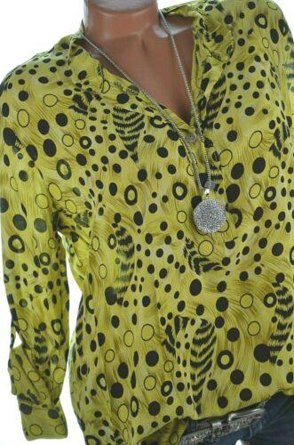 Damen Bluse TOP Tunika Hemd Shirt Animal /& Dots 38 40 42 NEU Italy