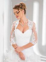 Wedding Bridal Lace Bolero/shrug/jacket/stole/shawl Size 6/8/10/12/14/16/18