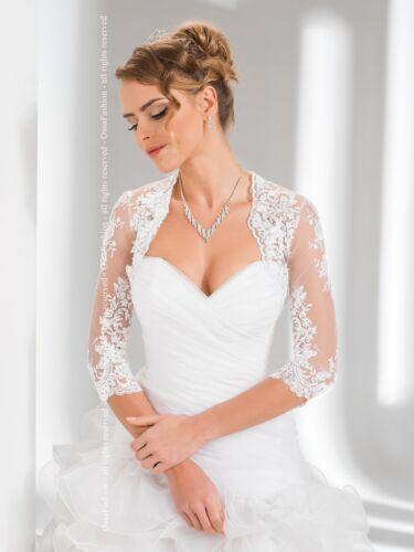 New femmes robe de mariage dentelle boléro//shrug//Veste//Étole//Châle Taille UK 6-18