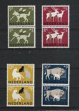 Niederlande 1964 Mi# 2 x 818-821 ** MNH Hund Dog Katze Cat Tiere Animals