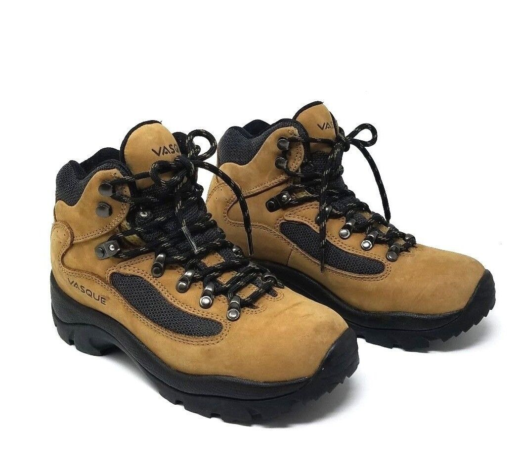 VASQUE HIKING BOOTS Ladies SUEDE LEATHER Brown Tan Size 6 WOMENS