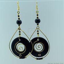 Maasai Market Handmade African Jewelry Copper/ Wood Beads Masai Earrings 132-26