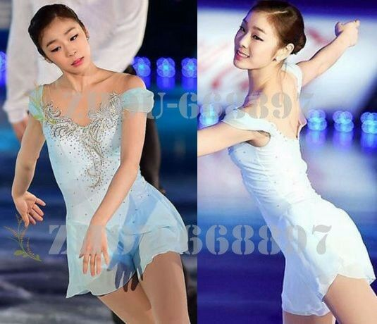Figure Skating Dress  Girls' Ice Skating Dress  Competion light bluee handmade  discounts and more