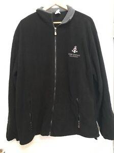 San-Diego-Full-Zipper-Fleece-Black-Jacket-Size-2XL