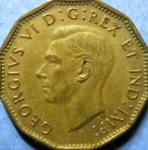 1943-Vintage-CANADA-5-CENTS-WAR-COIN-Very-Fine-Circulated-KING-GEORGE-V-COIN