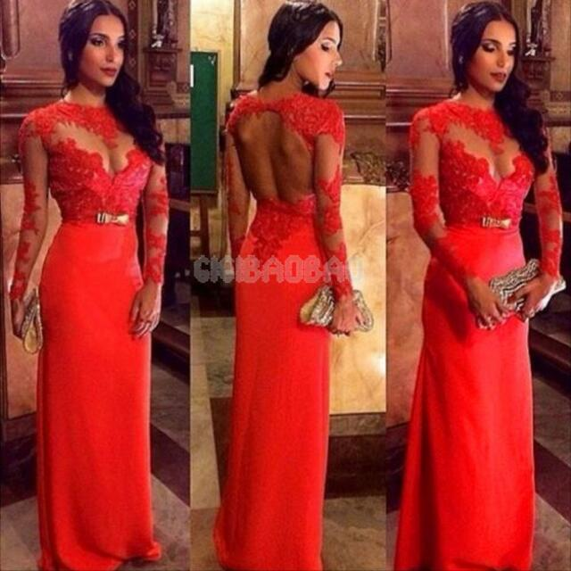 Women\'s Lace Long Evening Prom Ball Gown Formal Bridesmaid Cocktail Party Dress