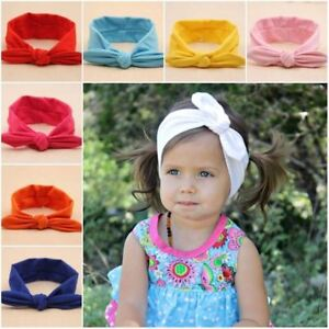 b54a9e1e56a Baby Toddler Girls Kids Bunny Rabbit Bow Knot Turban Headband Hair ...