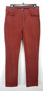 aderenti elasticizzato risvolto sangue 10 color rivestiti medio con Jeans ruggine rosso Sheri Denim Nydj pwdpxqA