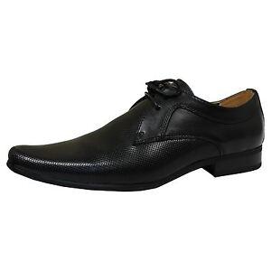 9340cf9edb3a Detalles de Front Zapatos Ripley Negro de Hombre Formal Cuero con Cordones