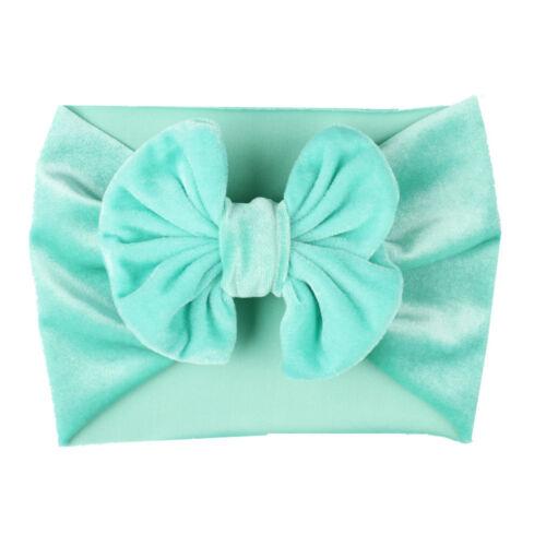 Baby Girls Kids Hairband Elastic velvet Band Headband Flower Hair Accessories NE