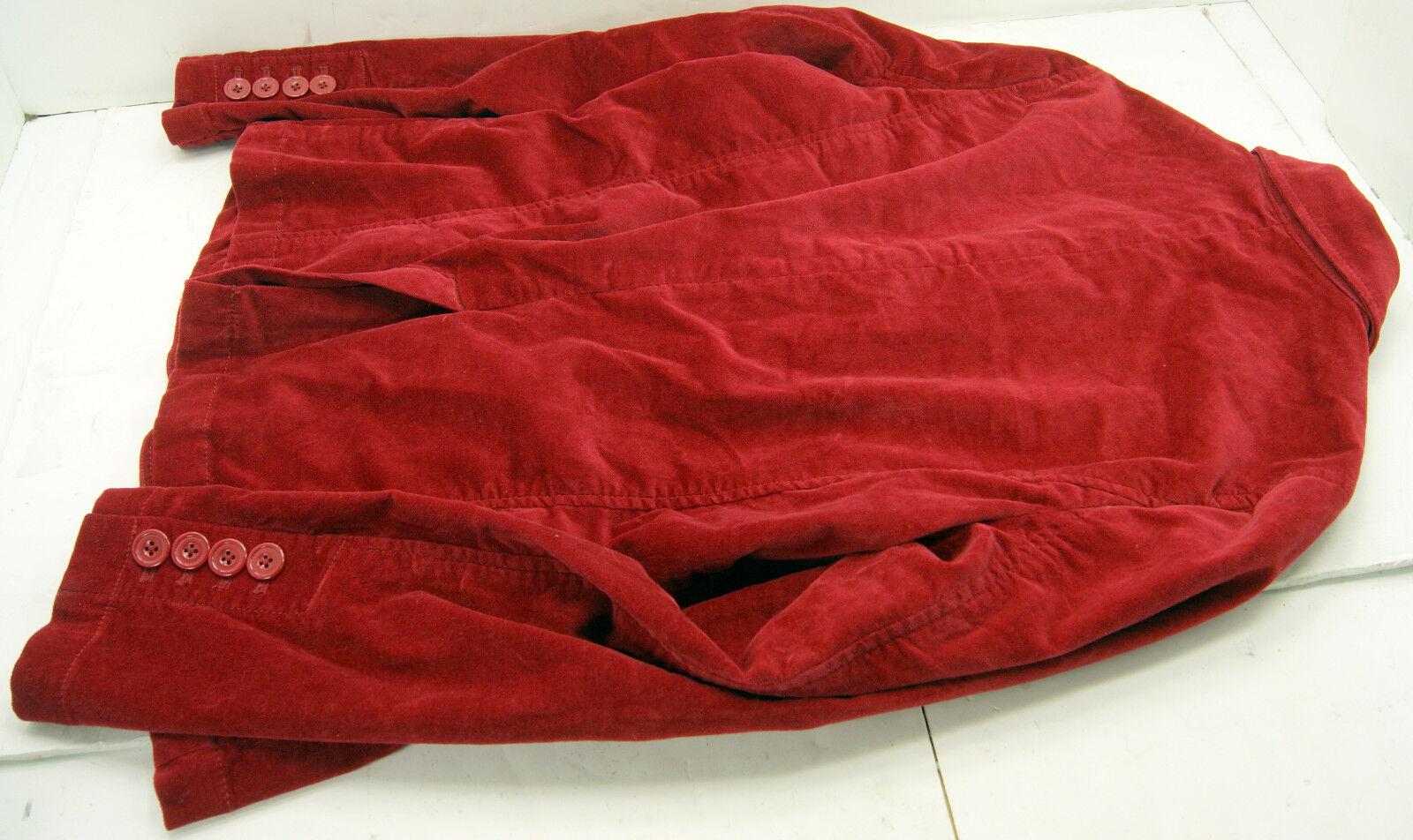 Eddie Bauer Red Velvet Women's Jacket Blazer Size… - image 3
