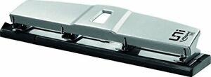 Maped - Perforatrice 4 Trous - Perforeuse A4 Métal pour 10 à 12 Feuilles - Avec