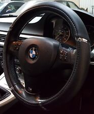 STEERING WHEEL COVER FITS BMW X1 X3 X4 X5 X6 Z4 Z5 BLACK WITH MESH PANELS 5057