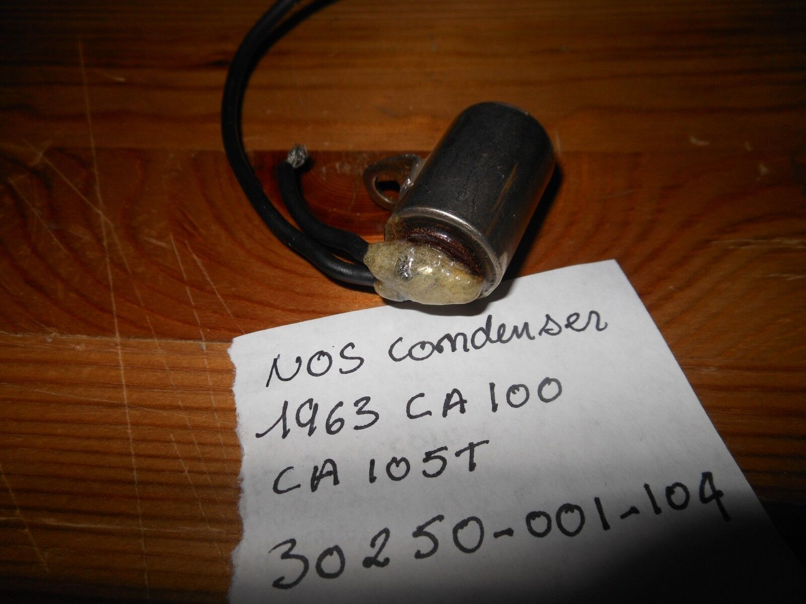 NOS OEM Honda 1963 CA100 CA105T CA110 Ignition Condenser # 30250-001-104
