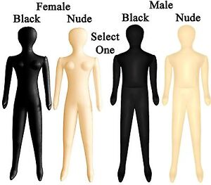 CHOOSE-Adult-Male-Female-Nude-Black-Inflatable-Blow-Up-Costume-Mannequin