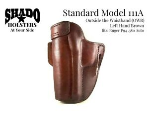 SHADO-Leather-Holster-Model-111A-Left-Hand-Brown-OWB-fits-Ruger-P94-380-Auto