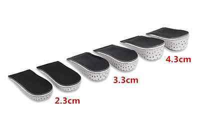 Unisex Increase Height High Half Insoles Memory Foam Shoe Inserts Cushion Pad Ef