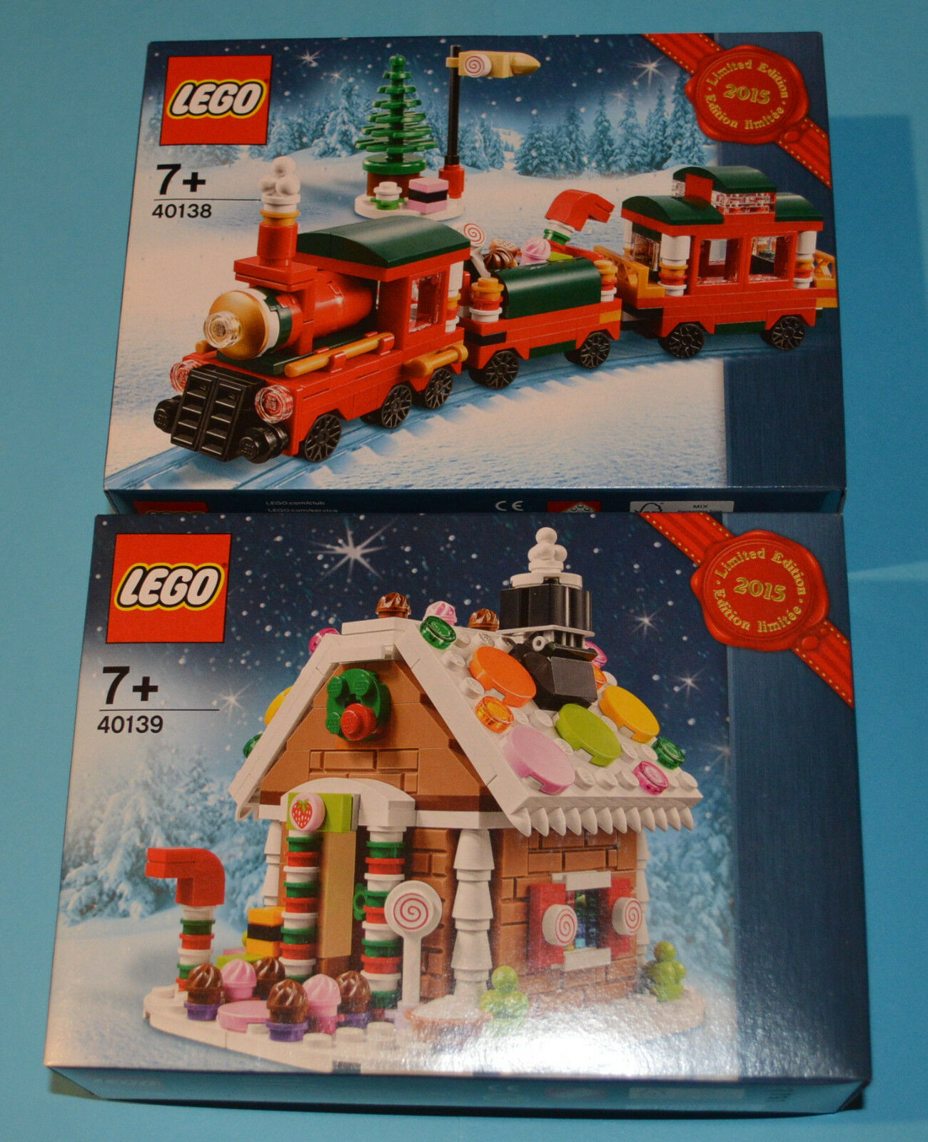 Lego 40138 Train & 40139 Gingerbread House Christmas Set Factory Sealed Box