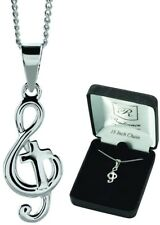 Sterling Silver Mini Music Staff With Treble Clef Charm