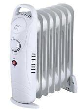 MINI 700w Olio Riempito Radiatore Elettrico Portatile Termostato 6 FIN Riscaldatore compatto