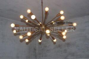 Das Bild Wird Geladen 24 Arm Mitte Jahrhundert Antik Patina Messing Sputnik