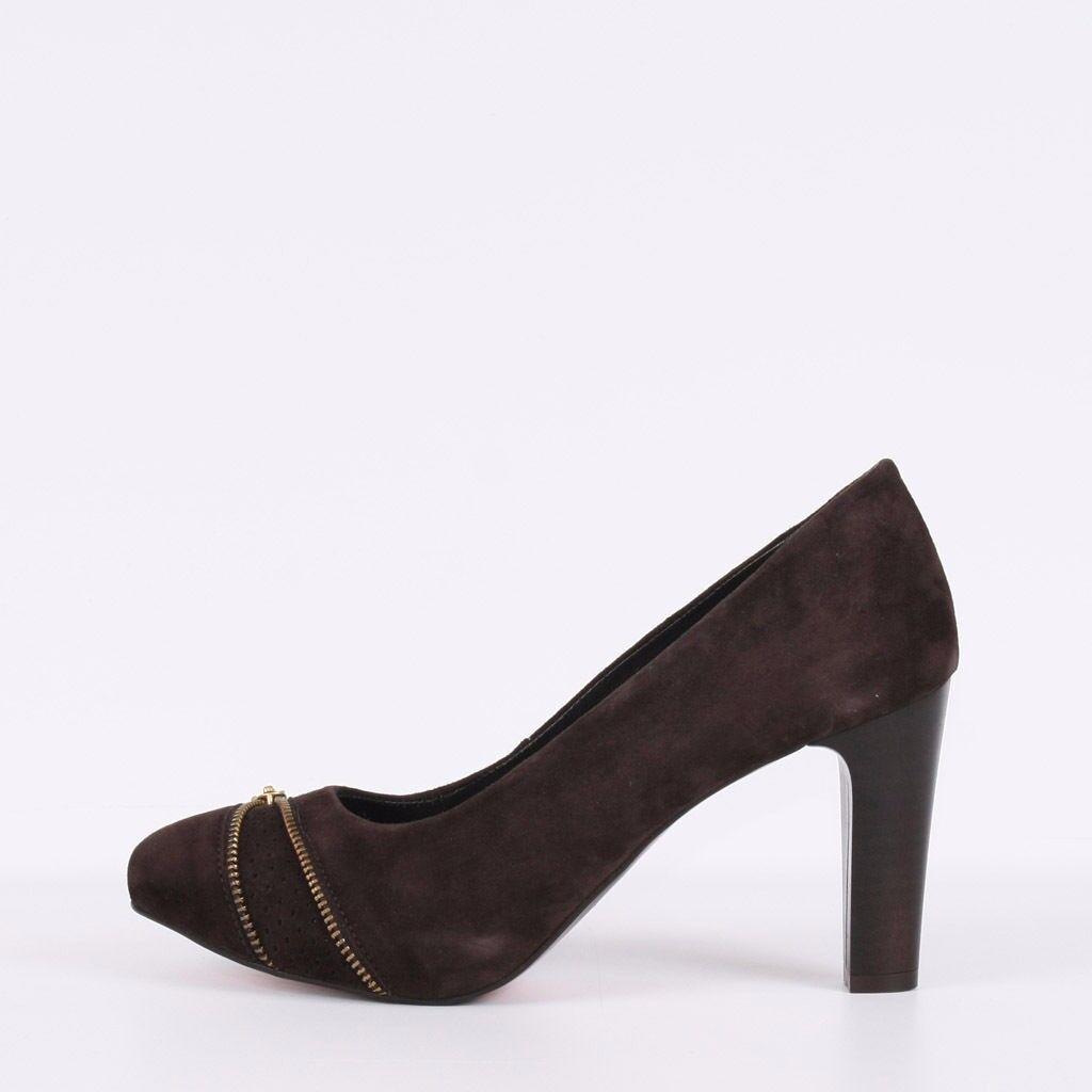 Chaussures femmes escarpins marron talons hauts cuir nouveau Elegant 38 39 40
