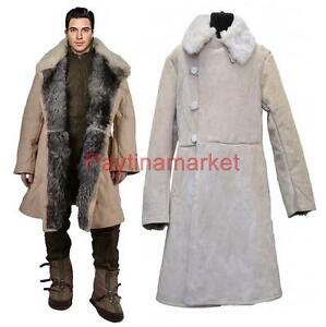 Bekesha Shearling Jacket Russian Army Officer Winter Sheepskin ...