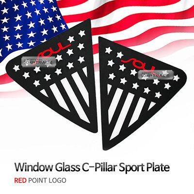 C Pillar Window Sports Plate Red Logo American Flag For KIA 2014-17 2018 Soul