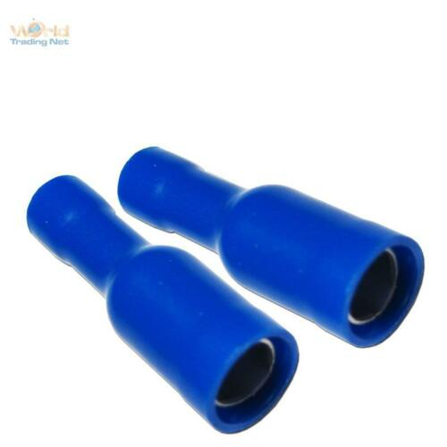 100x rundstekhülse los conectores o enchufes hembra redonda, cable 1,5-2,5mm² azul zapatos de cable