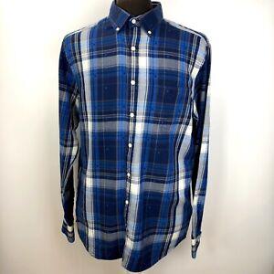 leta efter butik försäljning stabil kvalitet Gant Winter Twill Mens Cotton Shirt L 41/42 Regular Fit Blue Check ...