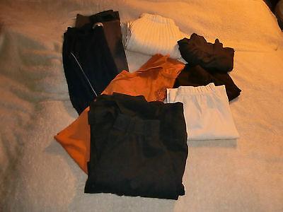 Aggressiv Damen-set 4 Röcke + 3 Kleider 36/40, Grau, Orange, Schwarz, Blau, Weiß
