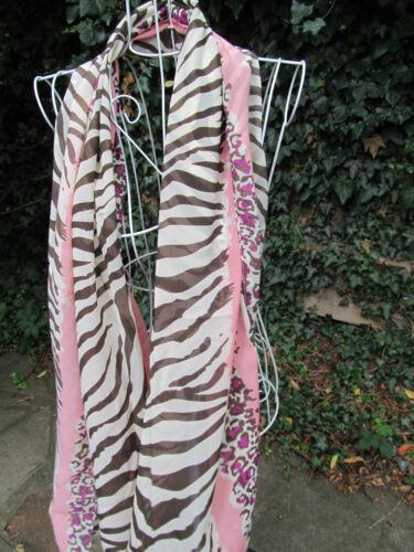 ANIMAL LEOPARD /& ZEBRA PRINT FASHION LADIES CHIFFON FEEL SCARF 160cmx70cm UKSELL