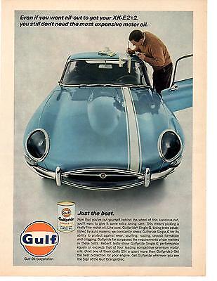 XK Engine VINTAGE ADVERTISEMENT 1967 JAGUAR XKE 420 Sports Car