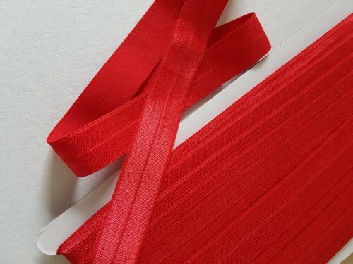 Foldover Caoutchouc En Rouge Brillant 3mx20mm 1,20 €//M élastique einfasgummi falzgummi