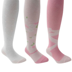 BABY-GIRLS-WINTER-BALLERINA-LEGGINGS-WITH-FAUX-SLIPPERS-AND-RIBBONS-sz-0-1-2-3