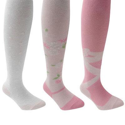 2 pairs Kids Girls Mid-Knee High Ballerina Dress Lace Socks 5-8 YRS Black White