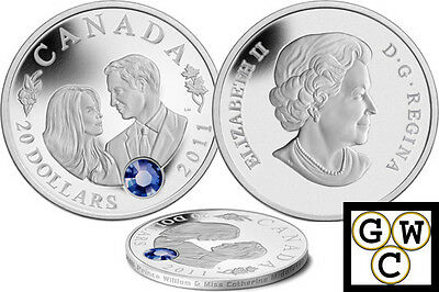 2011 $20 Silver Coin Wedding Celebration-William and Catherine .9999 Fine 12807