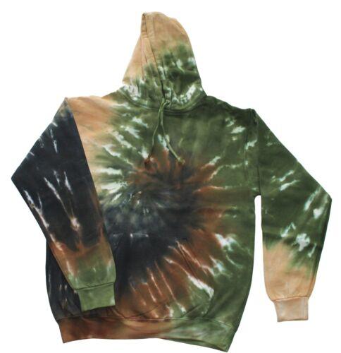 Tie Dye Sweats /& Hoodies Multi-Color S M L XL 2XL 3XL Colortone L//S Pullover