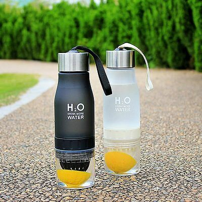 650ml Water Bottle plastic Infuser Drink Outdoor Sports Juice Portable Water Cup