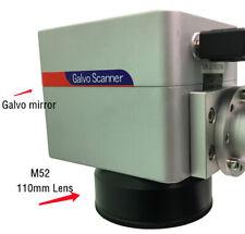 Galvo Scanner For 20w 30w 50w Fiber Laser Marking Machine With 110mm Lens