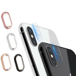 huge inventory 5c9df 229b3 Details about For iPhone X Rear Back Camera Protector Protective Lens Case  Ring Cover + Glass