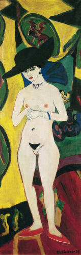 Standing Nude With ha Ernst Ludwig capitano Kirchner NUDE SIGNORA corpo petto B a3 01690
