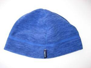 NEW ! Lands End Women s Melange Fleece Hat Size L XL Blue Winter  46e06d498d21