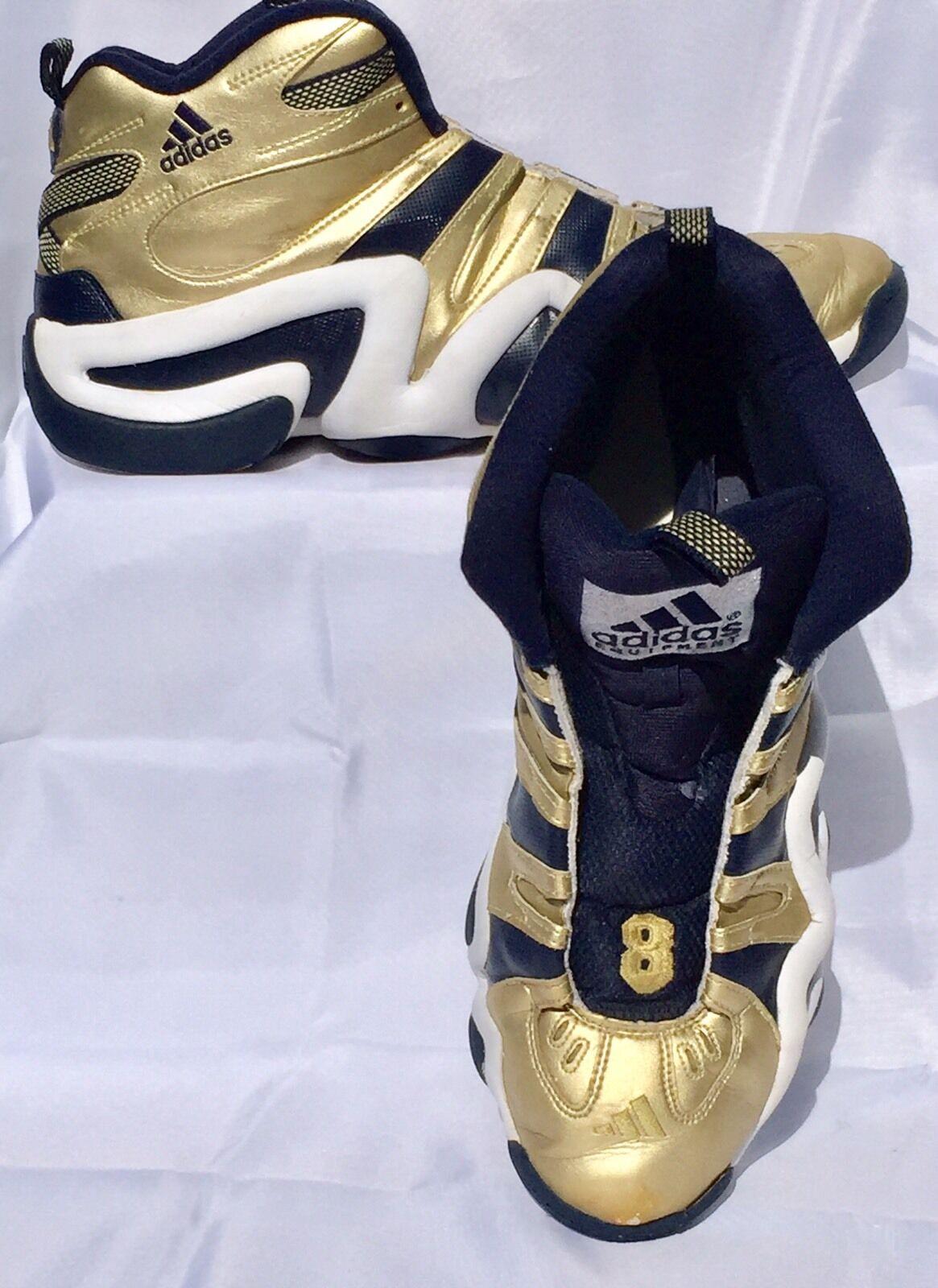 Adidas  Shoe Crazy 8 Notre Dame March Madness 11 Navy Gold Kobe Uomo 17