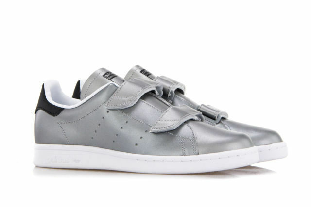 ADIDAS FAST STAN SMITH Silver Leather Double Straps UK 5 EU 38 NH06 60 SALEx